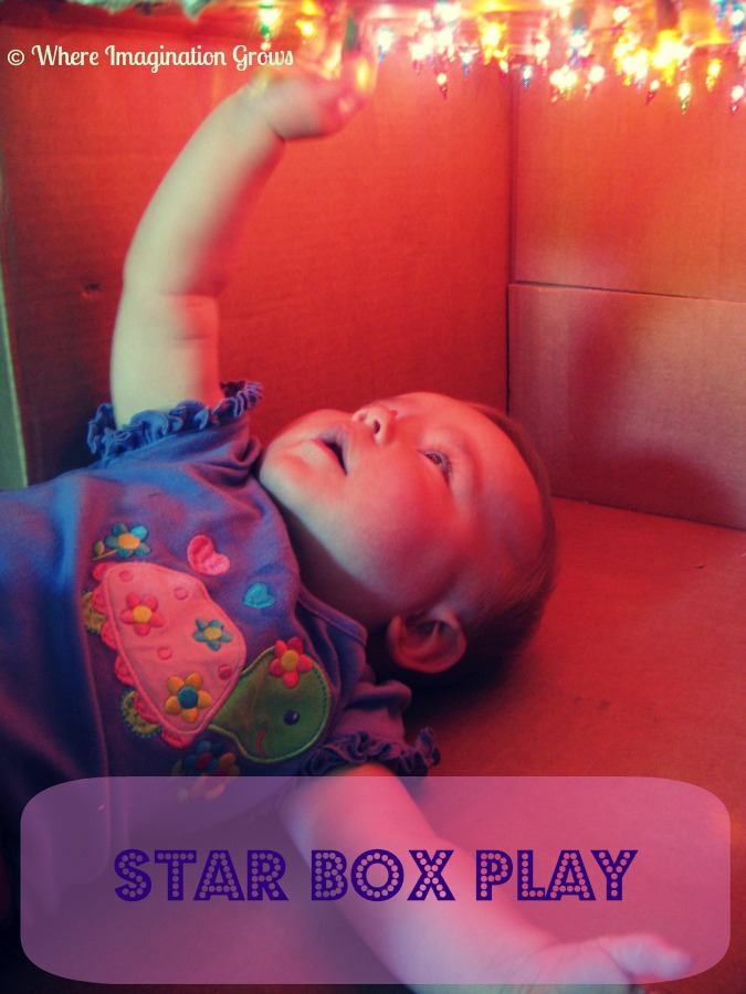 Star Box for Kids! Simple DIY sensory activities for infants or toddlers!