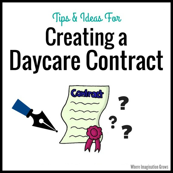 Creating a home daycare contract where imagination grows creating a home daycare contract tips and advice for putting together your family child care maxwellsz