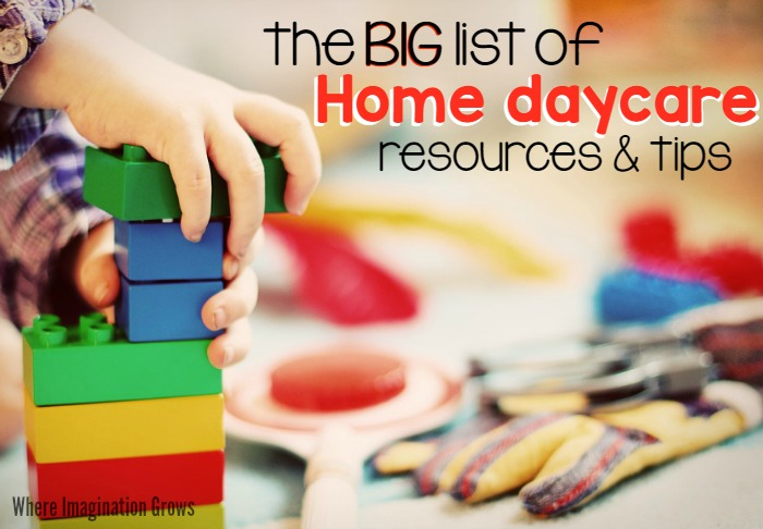 Resources for Home Daycare Providers! Tips and advice for starting and running an in-home daycare