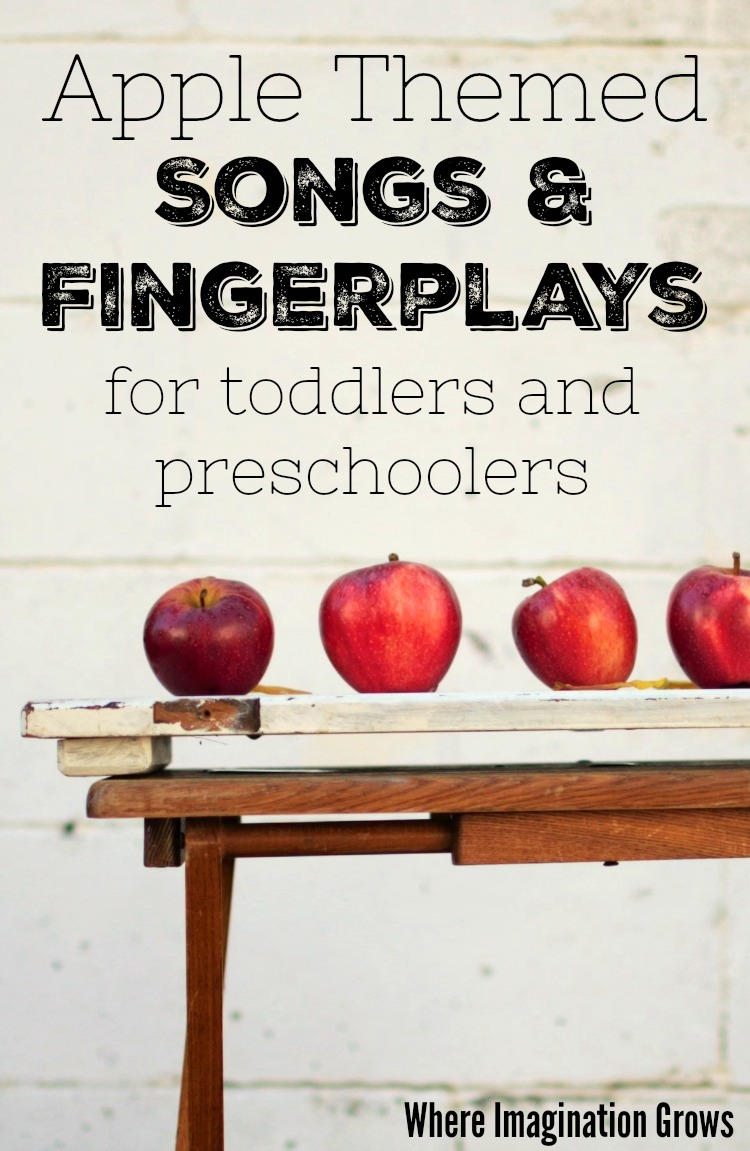 Apple themed songs and fingerplays for toddlers and preschoolers!
