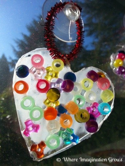 suncatcher glue hearts