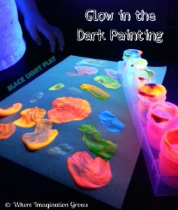 Glow in the Dark Painting with a Black Light