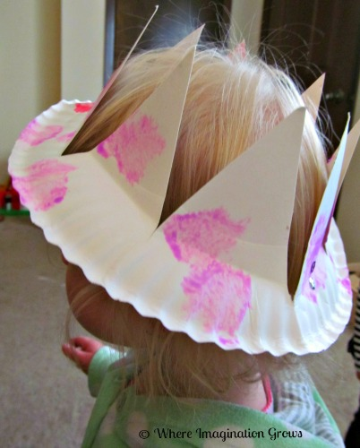 DIY paper plate crown craft for kids