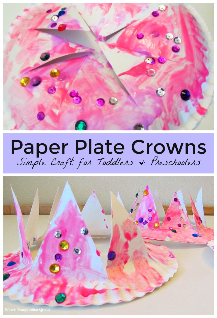 Easy DIY Paper Plate Crown Craft for Kids! A simple craft for toddlers and preschoolers