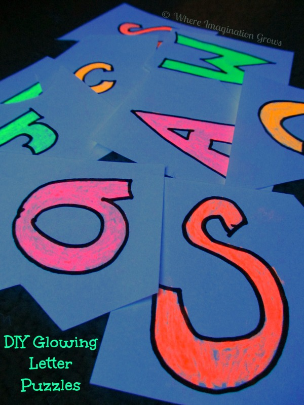 glow in the dark letters