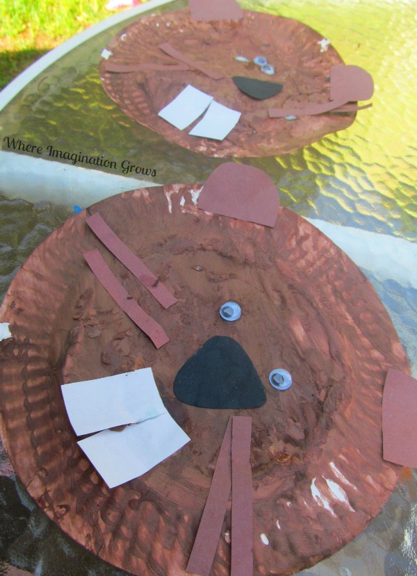 Beaver Paper Plate Craft for Kids