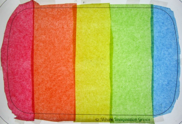 No Coloring Salt Required! Tissue Paper Rainbow Salt Tray for Pre-writing Practice