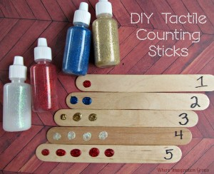 Tactile Counting and Learning with Craft Sticks