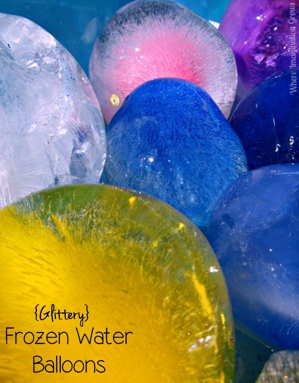 Glittery Frozen Water Balloon Summer Fun