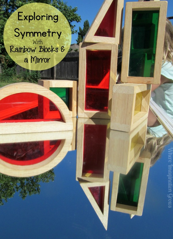 Symmetry for Kids with Rainbow Blocks & Mirrors! Preschool Science
