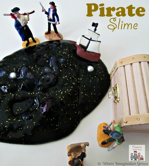 Pirate Slime Sensory Play for Preschoolers