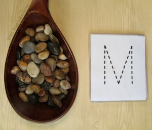 Letter Recognition Practice with Rocks