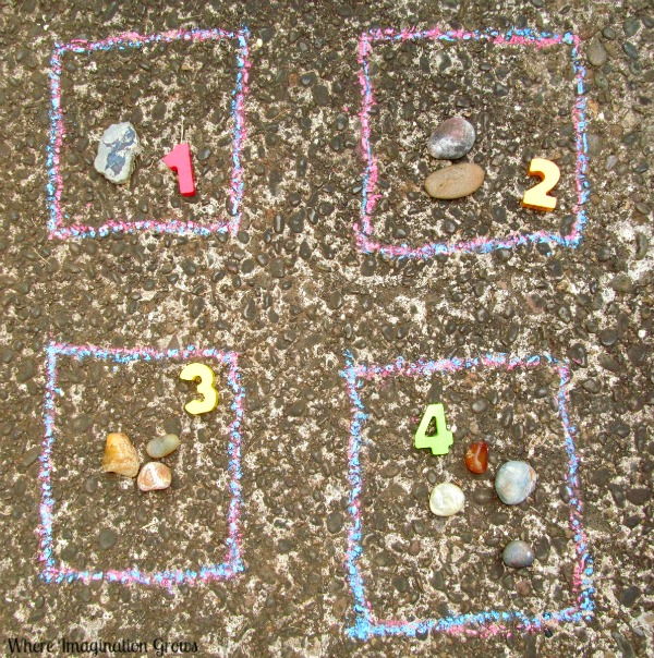 Number Sorting Math Game with Nature