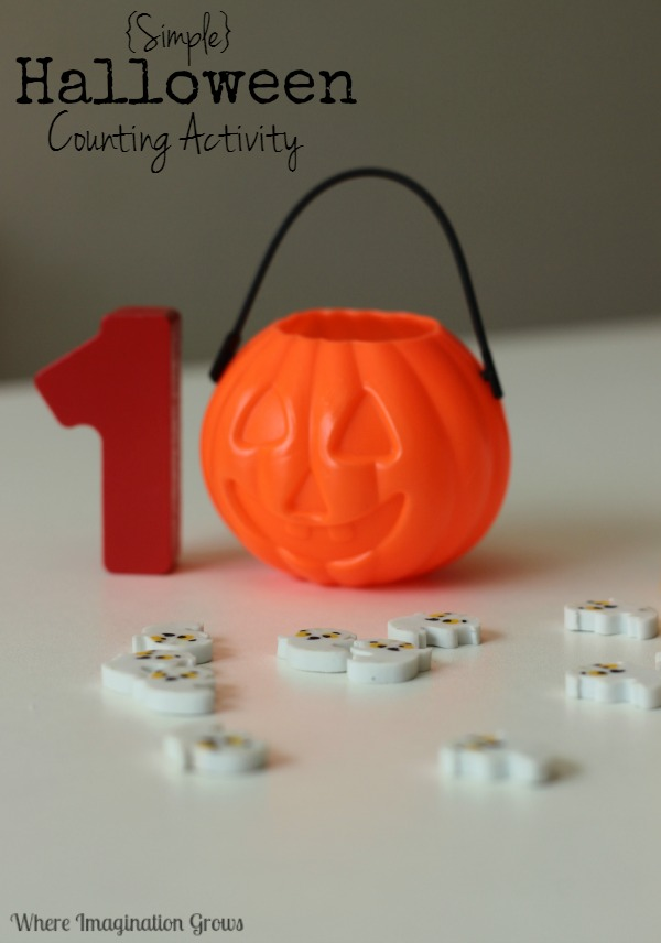 Halloween math games for preschool counting activity