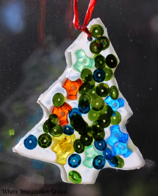 glue suncatchers an easy christmas tree ornament craft a simple christmas craft kids can - Homemade Christmas Decorations For Kids