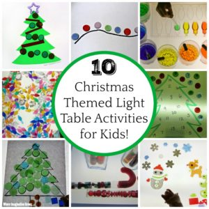 Light Table Christmas Activities for Preschoolers