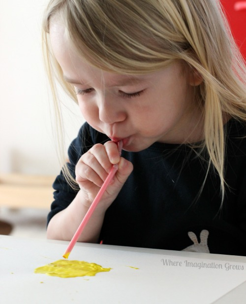 Straw Art for Preschoolers