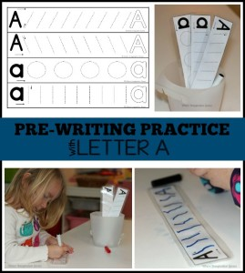 Prewriting Practice with the Letter A