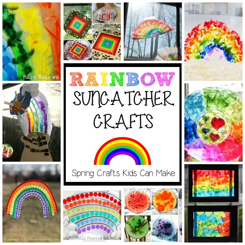 Fun Crafts for Spring! Easy Rainbow Suncatcher Crafts for Kids