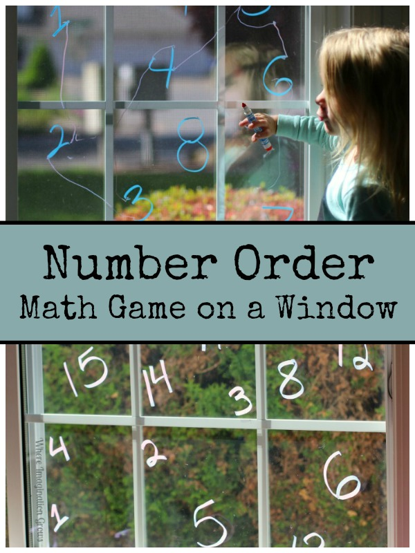 Number Order Preschool Math Game with Window Markers