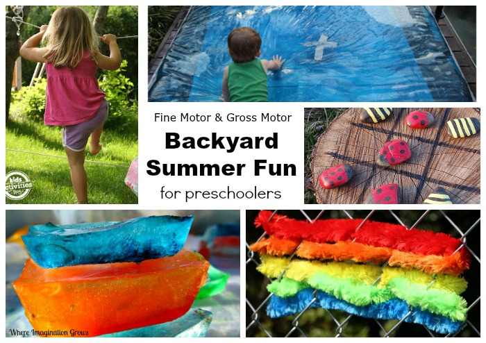 Summer Backyard Fun for Preschoolers: Outdoor Motor Activities