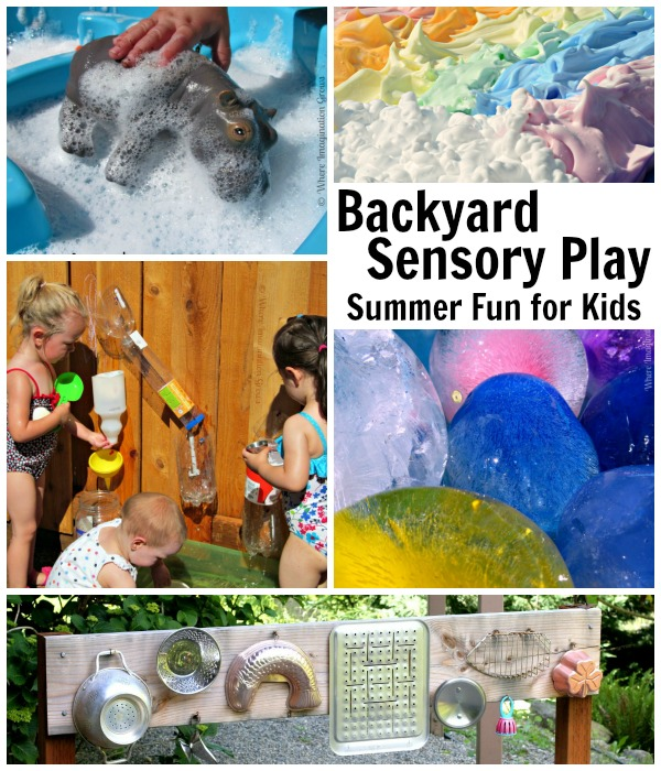 Backyard Fun Sensory Play Outdoor Summer Kids Activities For Preschoolers