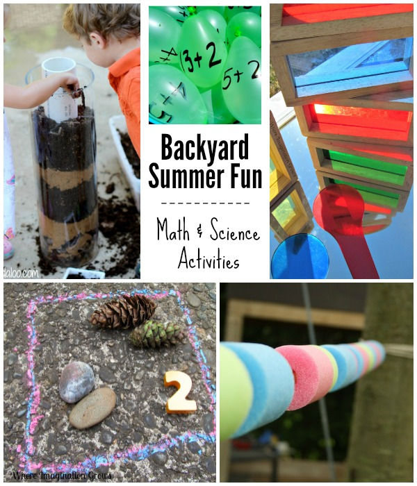 Summer Backyard Math and Science Kids Activities