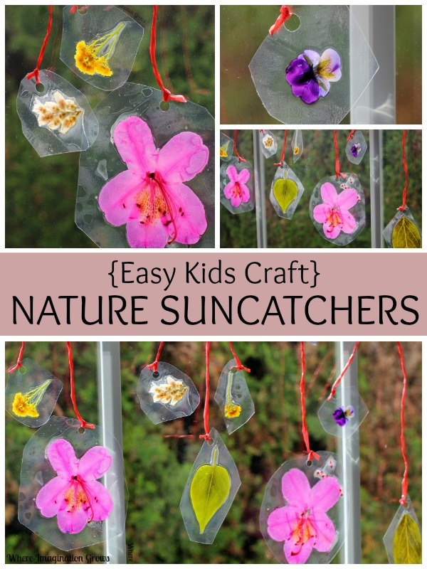 Spring Crafts for Kids: Easy DIY Nature Suncatchers