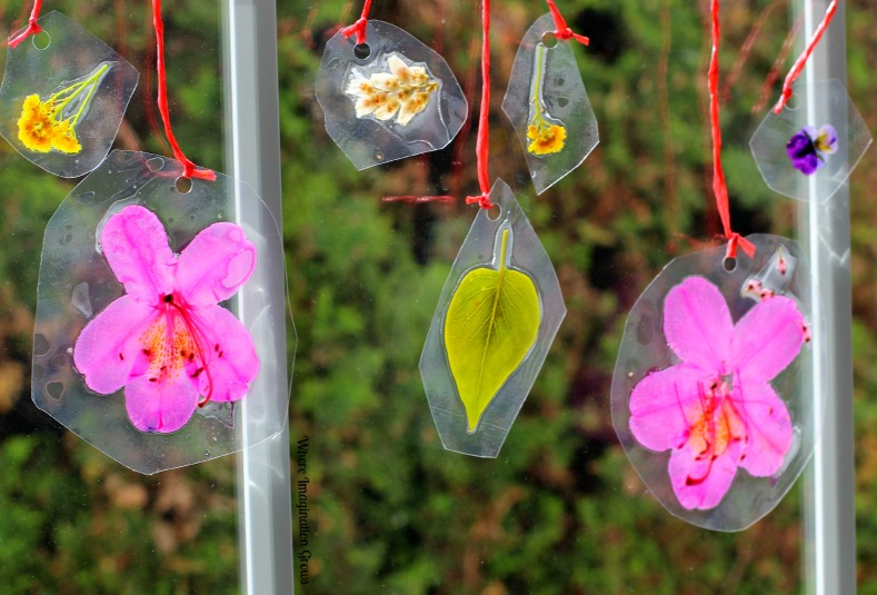Spring Crafts for Kids: DIY Laminated Nature Suncatchers