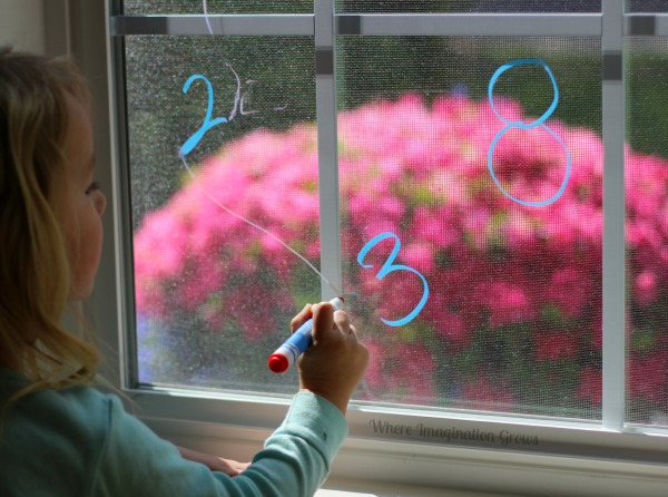 Preschool Math Game: Learning Number Order on a Window #preschool