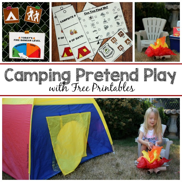 picture regarding Free Printable Camping Signs named Tenting Phony Participate in for Preschoolers - Exactly where Creativity Grows