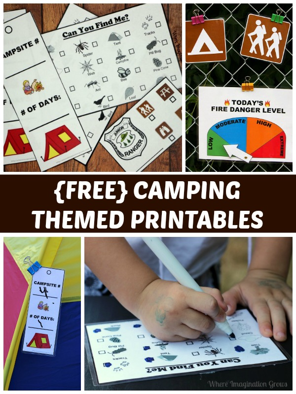 Camping Pretend Play Printables for Preschool!