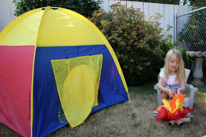 camping pretend play activity preschool
