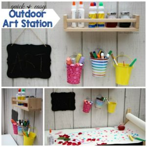 Outdoor Creative Art Station for Kids