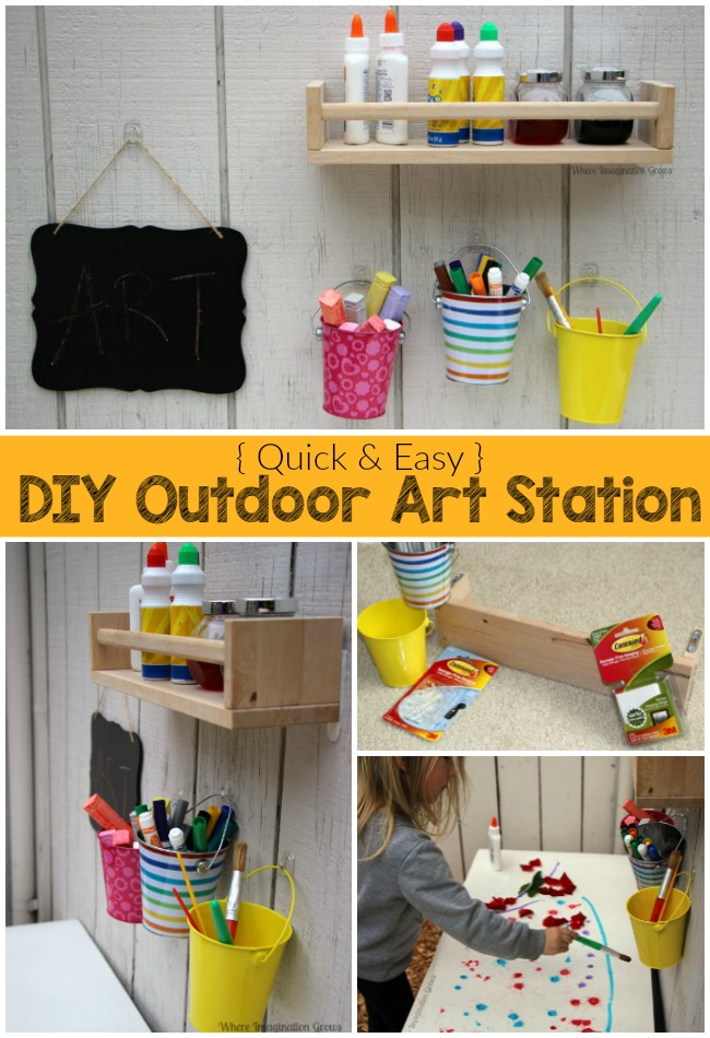 Perfect Outdoor Creative Art Station for Kids - Where Imagination Grows KJ41