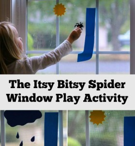 Itsy Bitsy Spider Nursery Rhyme Window Activity for Kids