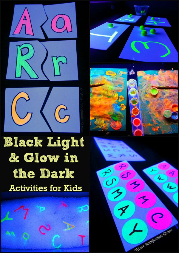 Black Light & Glow in the Dark Activities for Kids