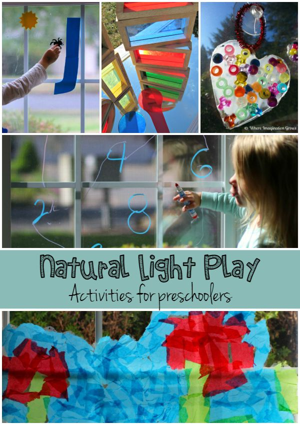 Natural Light Play Activities for Kids!