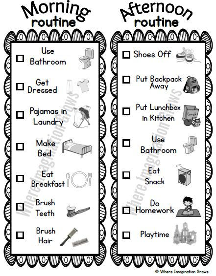 Free Visual Routines Printable for Kids! a simple before and after school routine printable for kids!