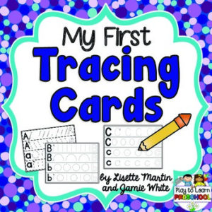 My First Letter Tracing Cards- Prewriting Printable for Preachoolers