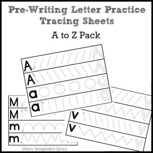 Prewriting Letter Practice Printables for Preschool
