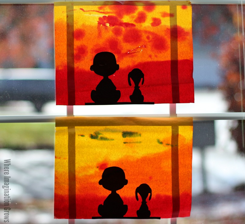 Charlie Brown and Snoopy Craft for Kids! Peanuts Watercolor art project!