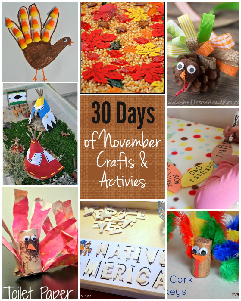 30 days of kids activities for november free activity