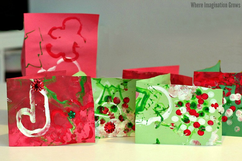Christmas Card Process Art Craft for Kids!