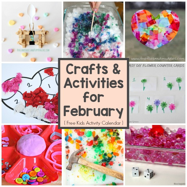A Month Of Crafts Kids Activities For February Where