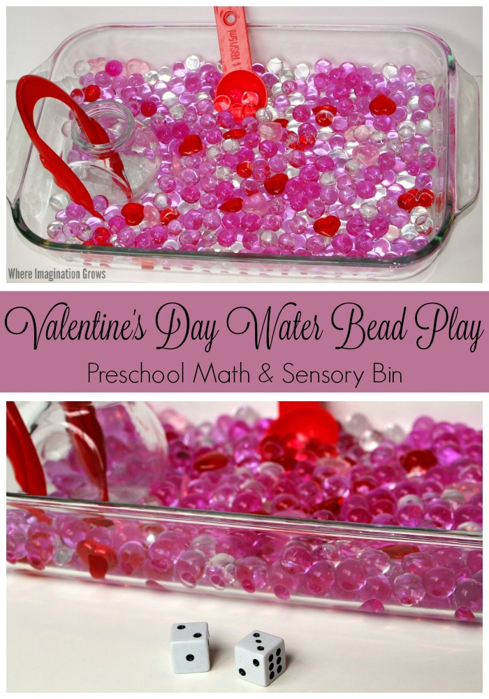 valentine's day sensory bin & math game for preschoolers - where, Ideas