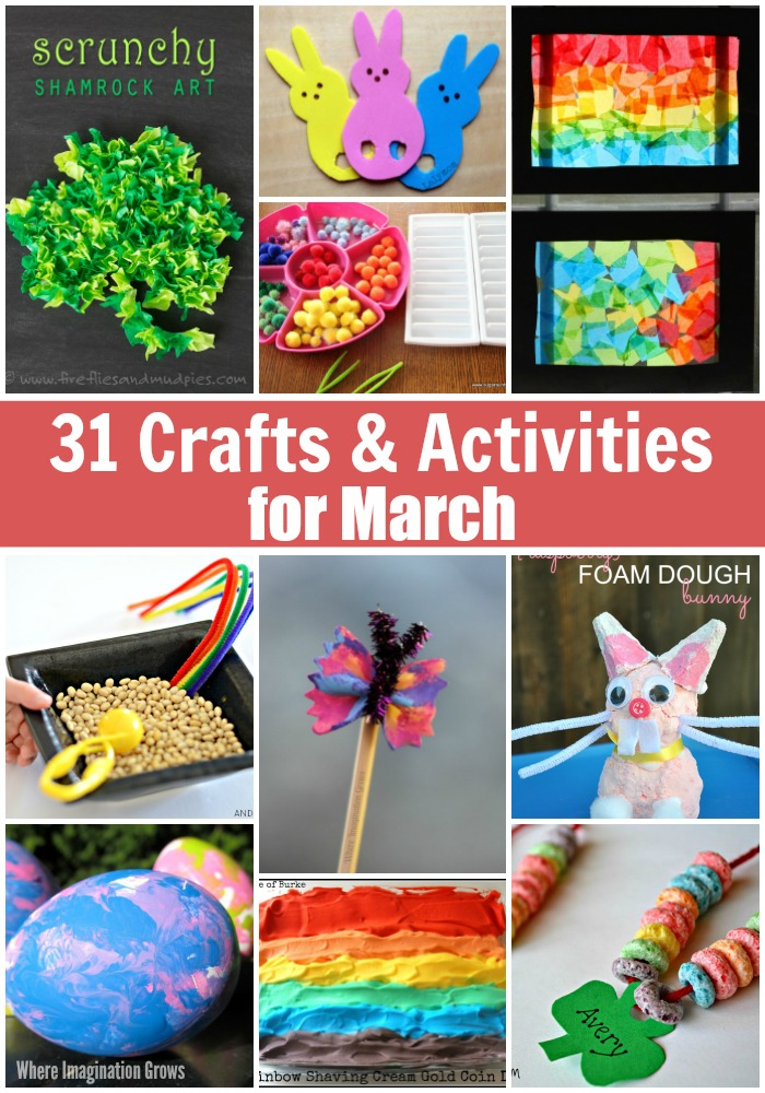 31 Days Of March Crafts Activities For Kids Where Imagination Grows