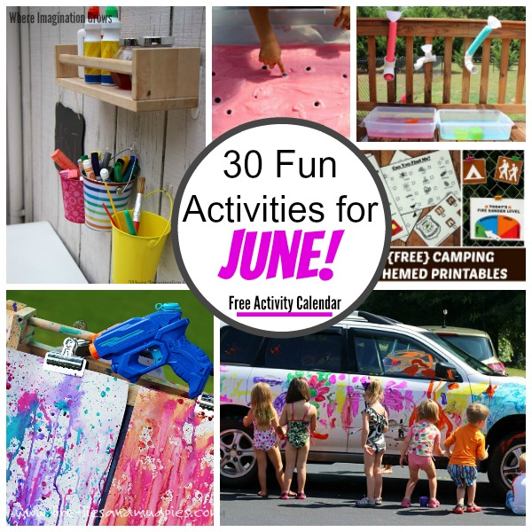 30 engaging learning activities and fun crafts for kids to do in June! Lots of summer fun for preschoolers! Free activity planner