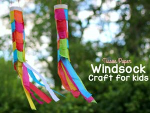 Tissue Paper Windsock Craft