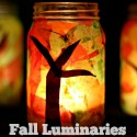 DIY Fall Luminaries Mason Jar Craft